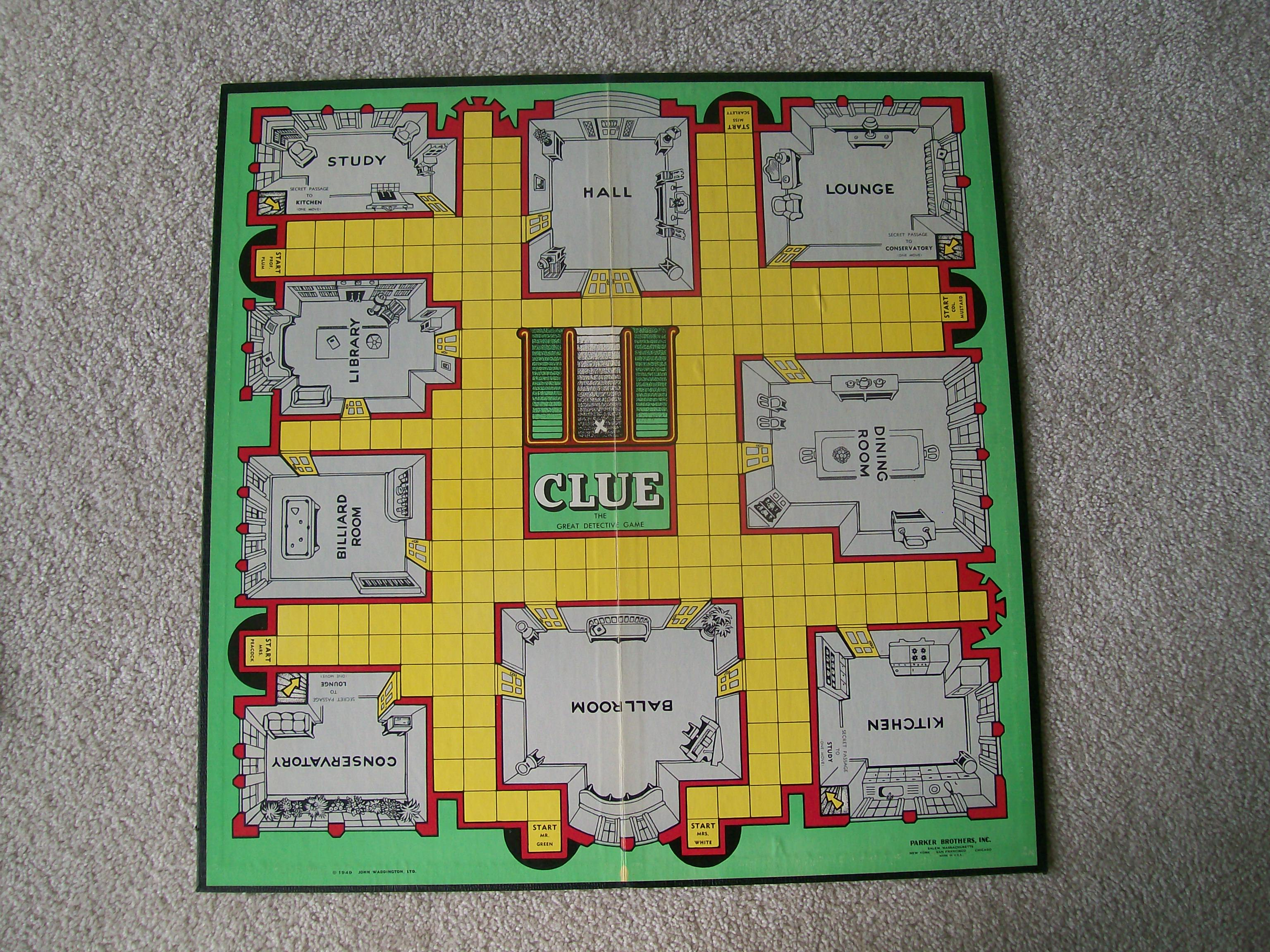 Game Board of Clue