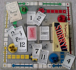 The great game of Sorry! Parker brothers old game