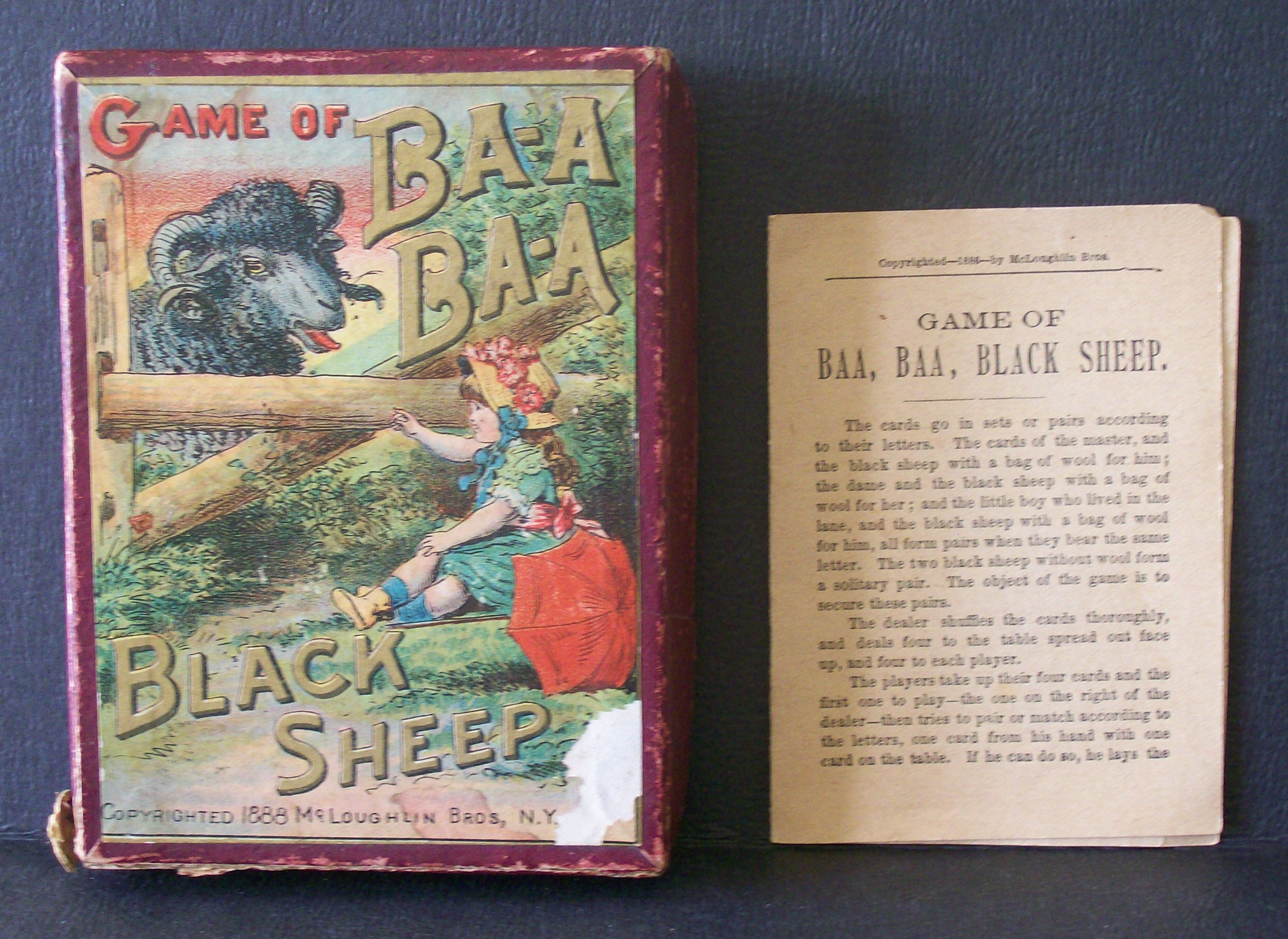 Old Card Game of Baa Baa Black Sheep