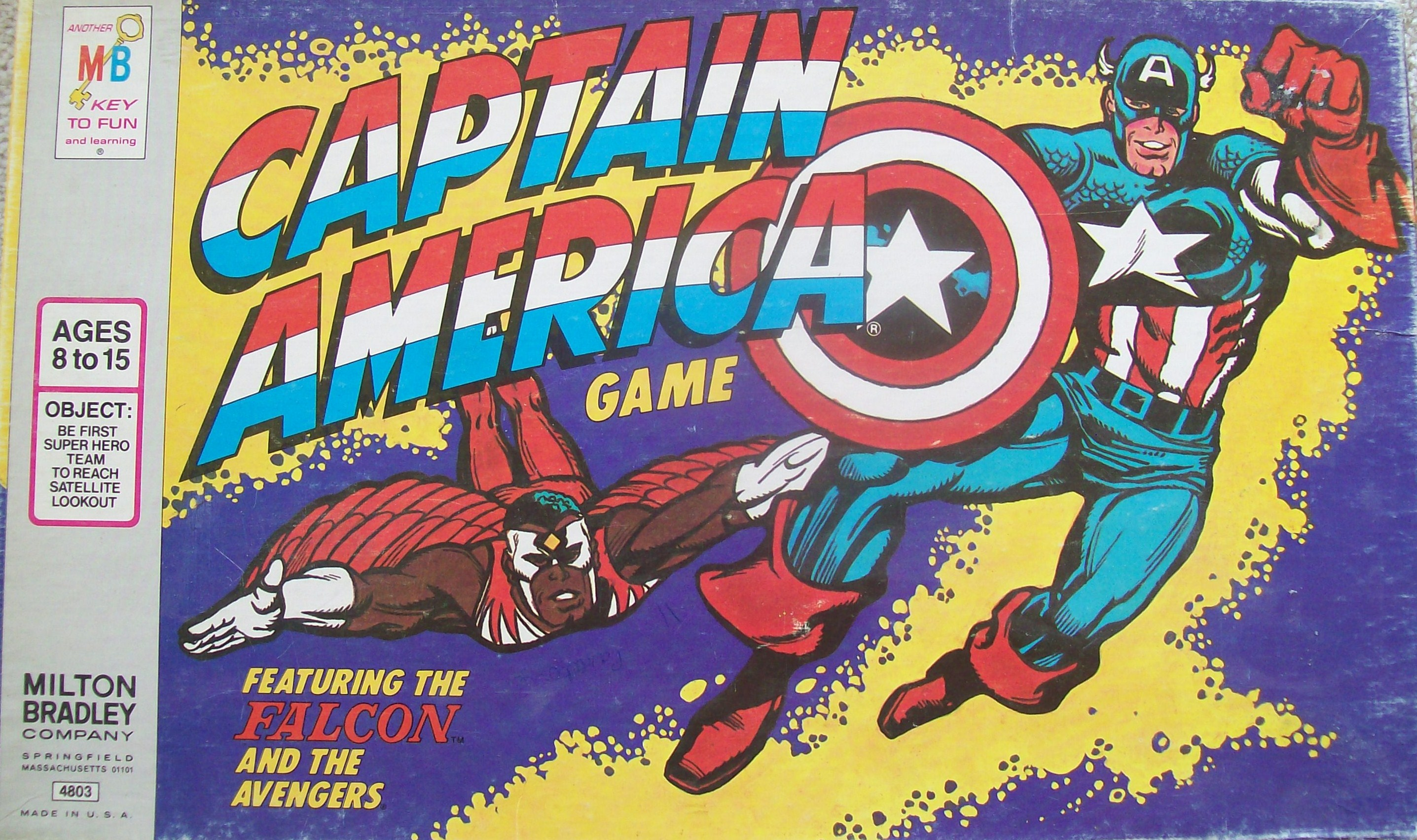 captain america board game 1977