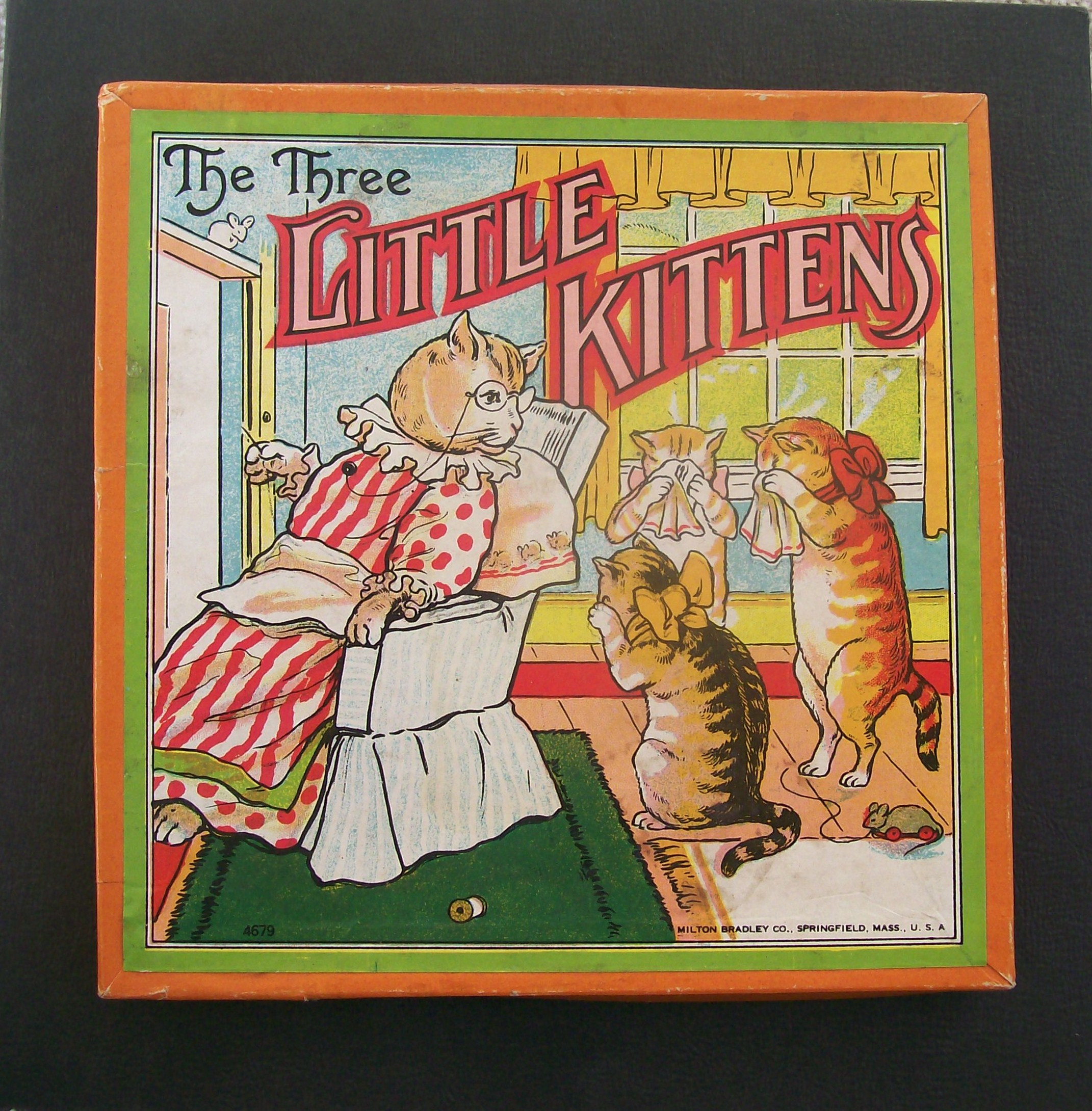 Old Milton Bradley Board Game the three little kittens