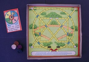 milton bradley old game board