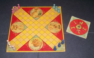 old 1895 parker brothers puss in the corner board game