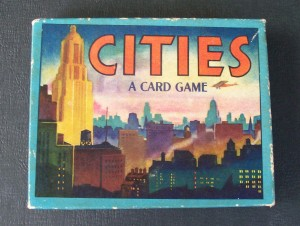 old card game of cities