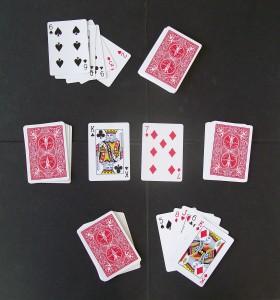 speed card game set up