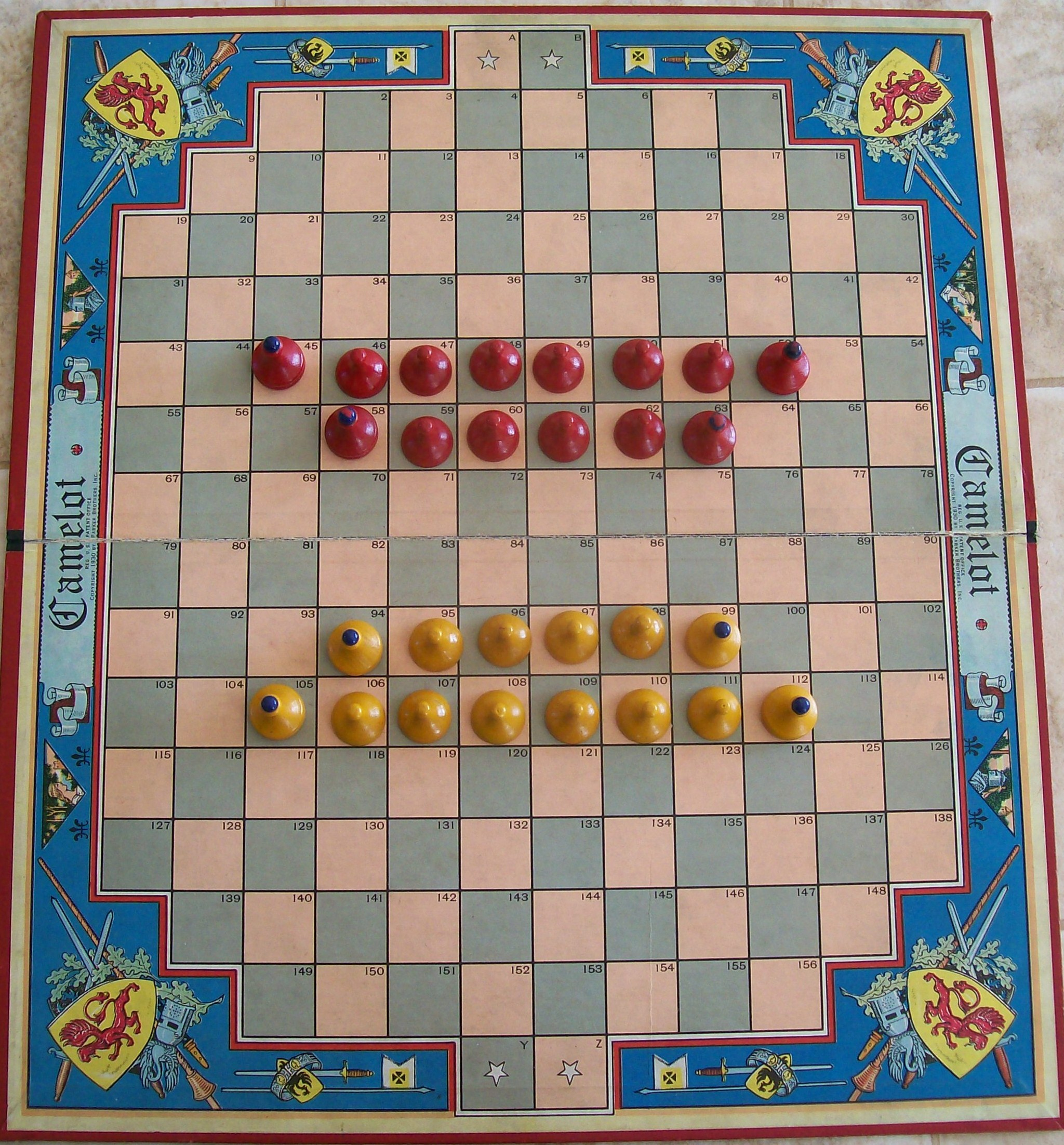 parker brothers board game 1930 camelot