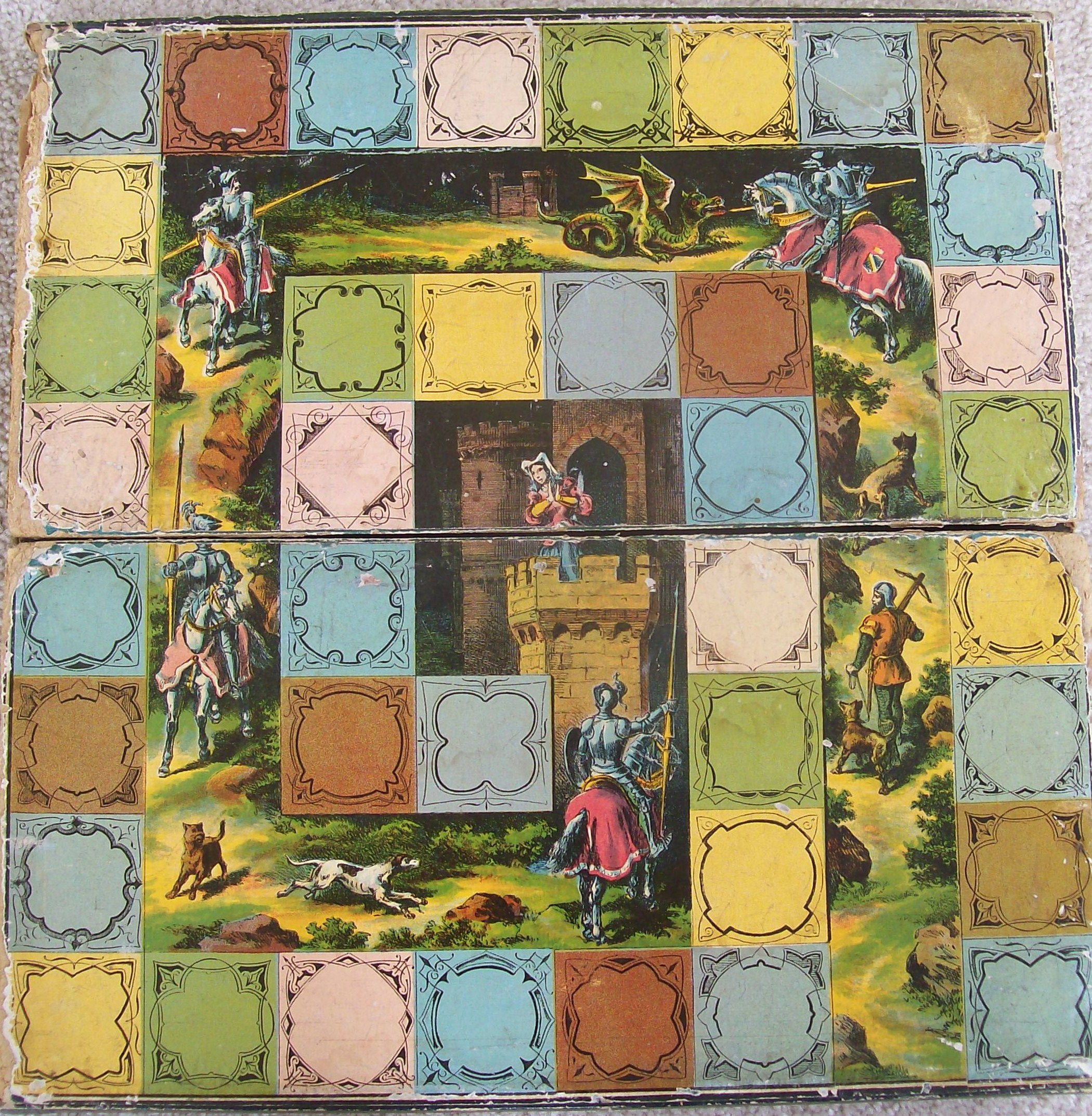 1875 mcloughlin bros. game captive princess