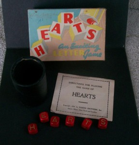 Parker Brother's Hearts Dice game