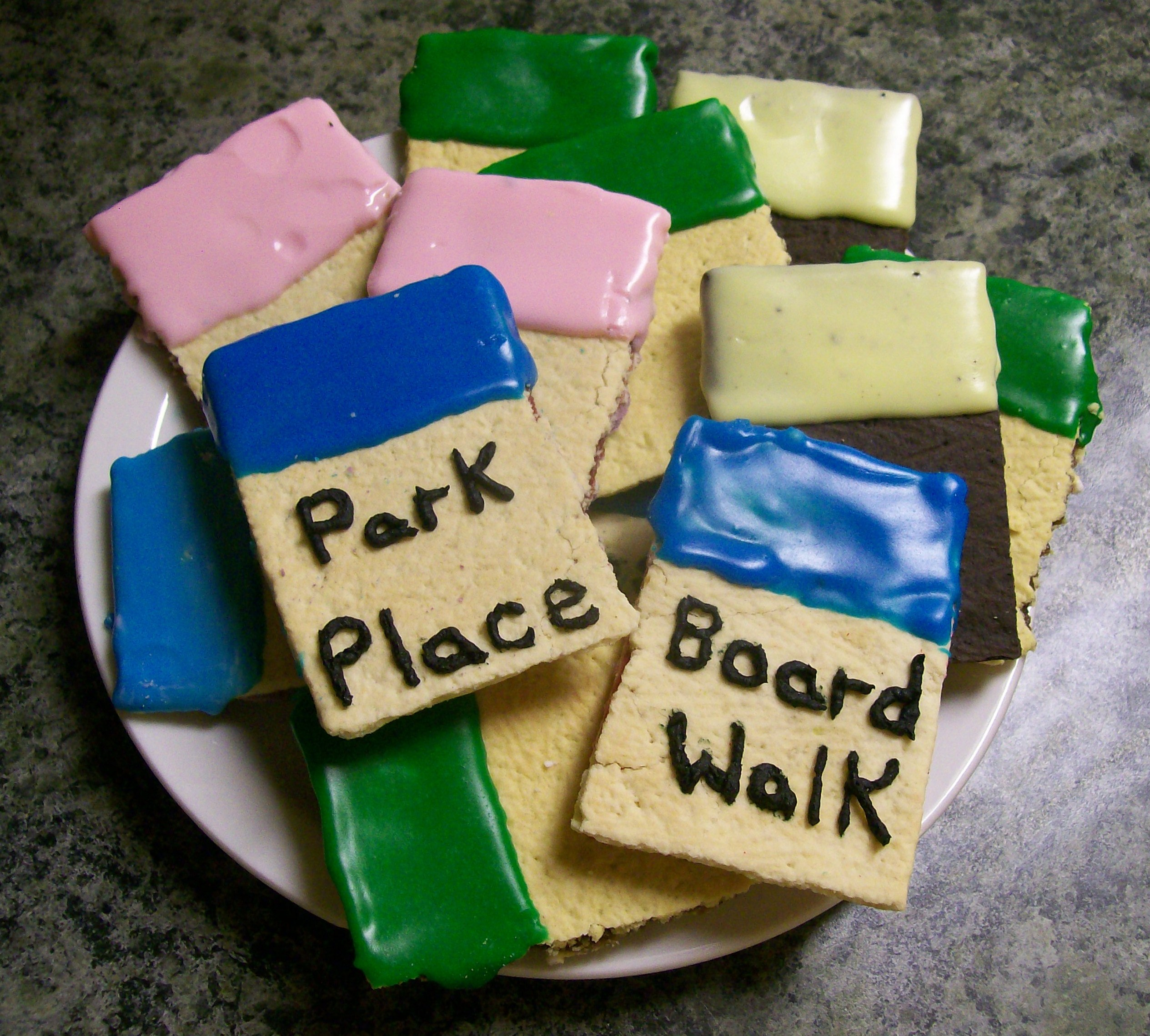 game night recipe of monopoly tarts