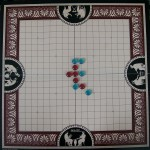 two player pente game board