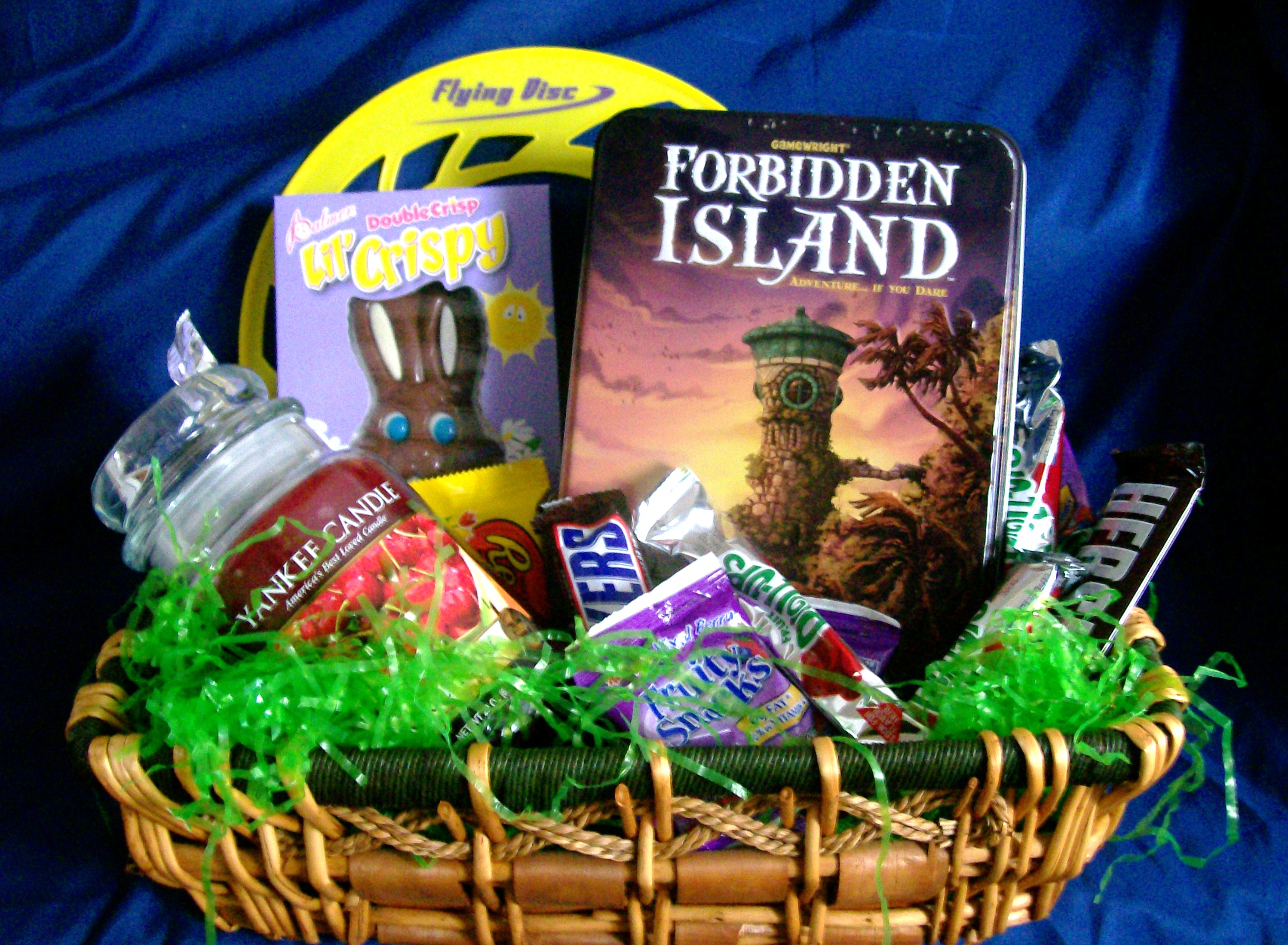 fun and games gift basket for family