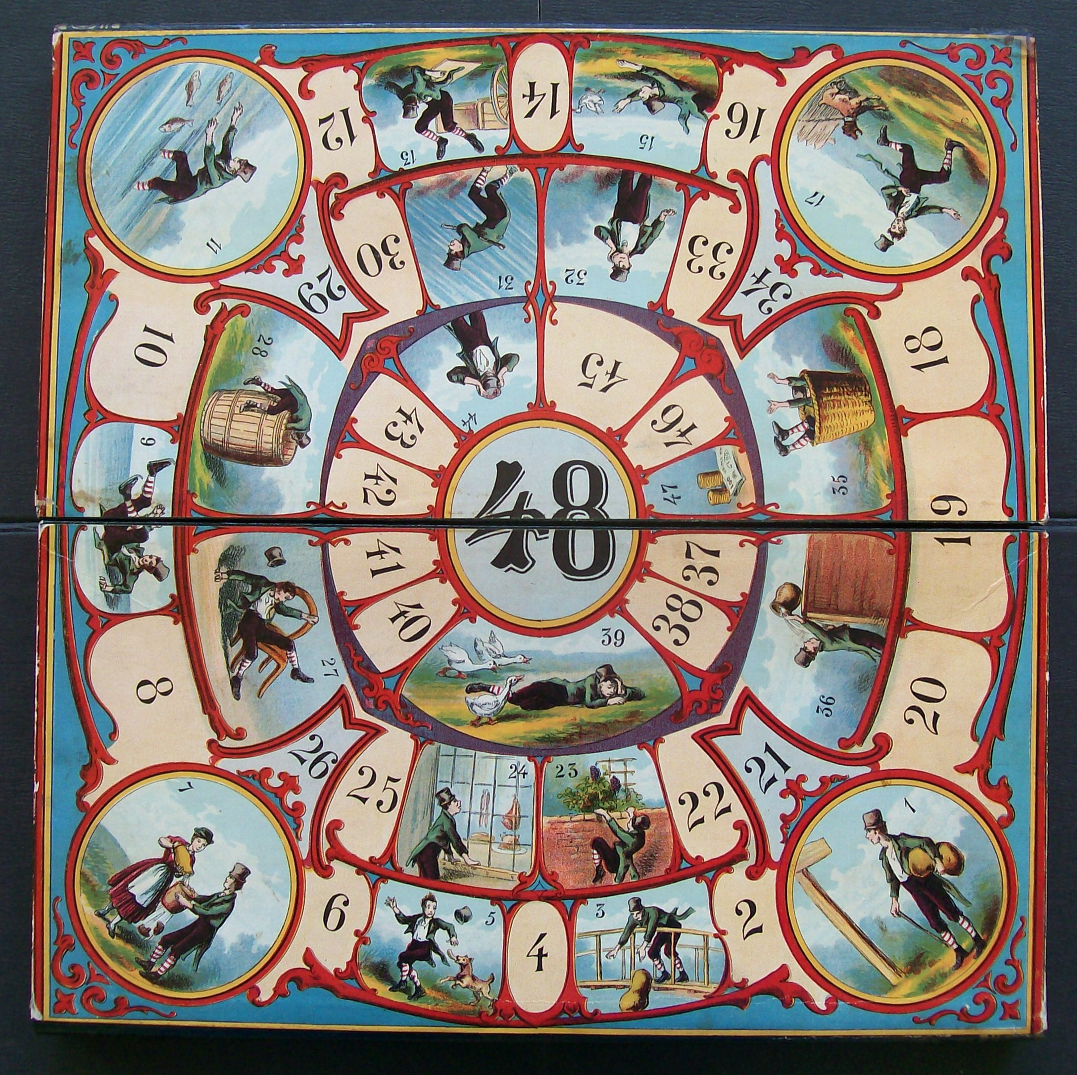 1875 mcloughlin bros. game board life's mishaps