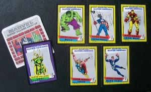 loki, captain america, hulk, iron man, thor, game cards
