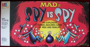 Vintage 1986 Milton Bradley board game spy vs spy