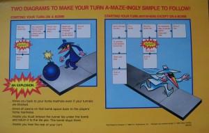 1986 milton bradly game diagram for spy vs. spy