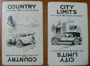 vintage 1926 parker brothers Touring game cards