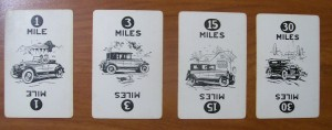 parker brothers touring mile game cards