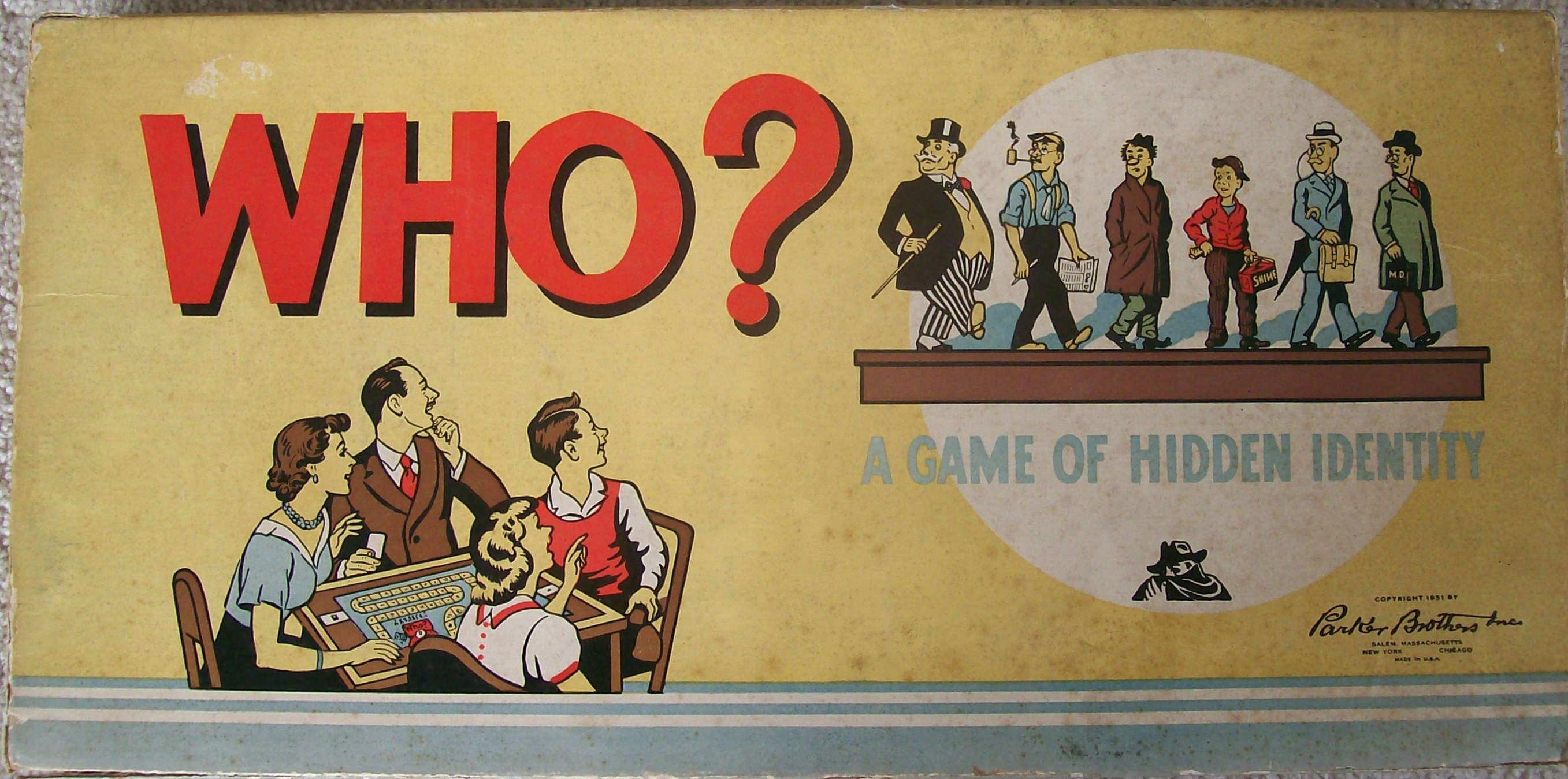 1951 vintage parker brothers game of who?