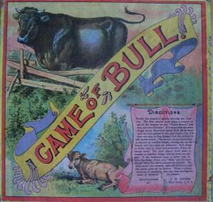old 1800's game of bull JH Singer