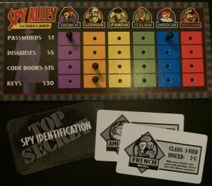 spy alley game pieces