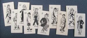 vintage 1951 parker brothers game of who? cards