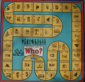 1951 parker brothers game board of who