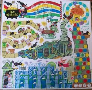 vintage 1969 game board