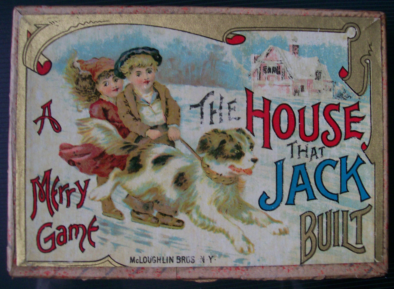 1887 mcloughlin bros house that jack built card game