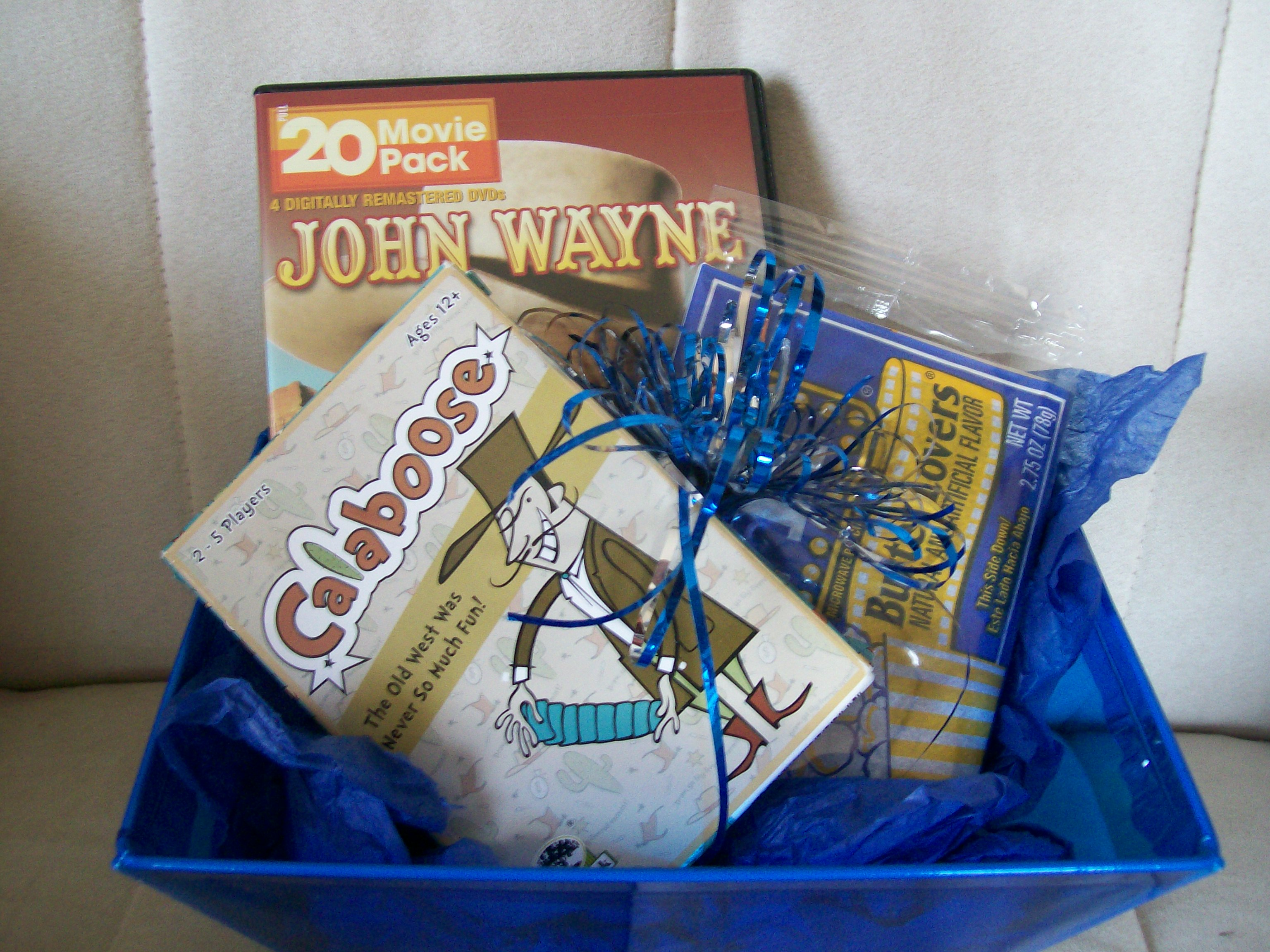 western themed fun and games gift basket