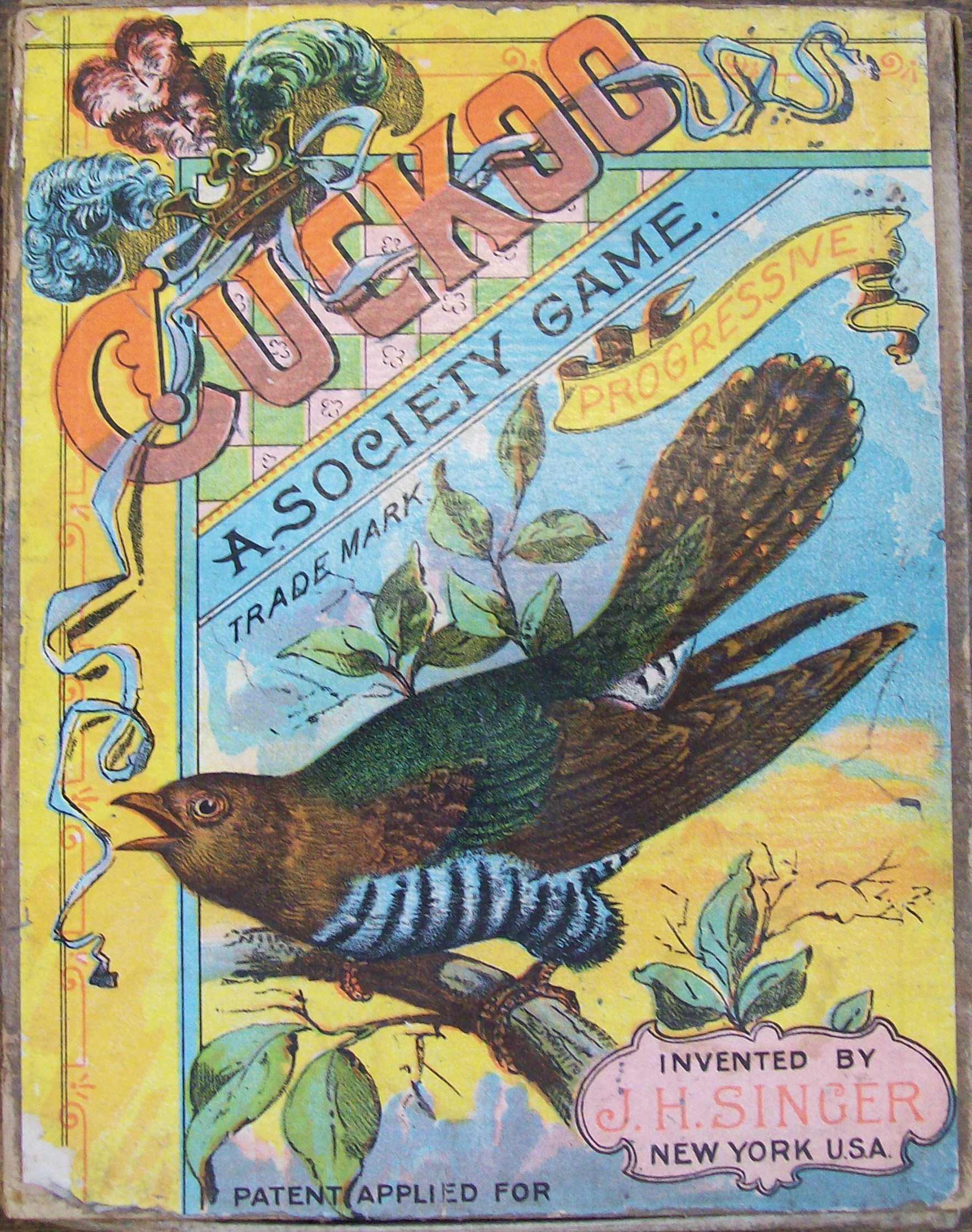 anitque game of J.H. Singer 1891 Cuckoo