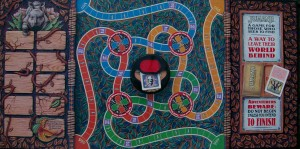 1995 milton bradley jumanji game board