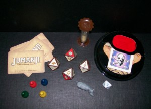 milton bradley jumanji game pieces