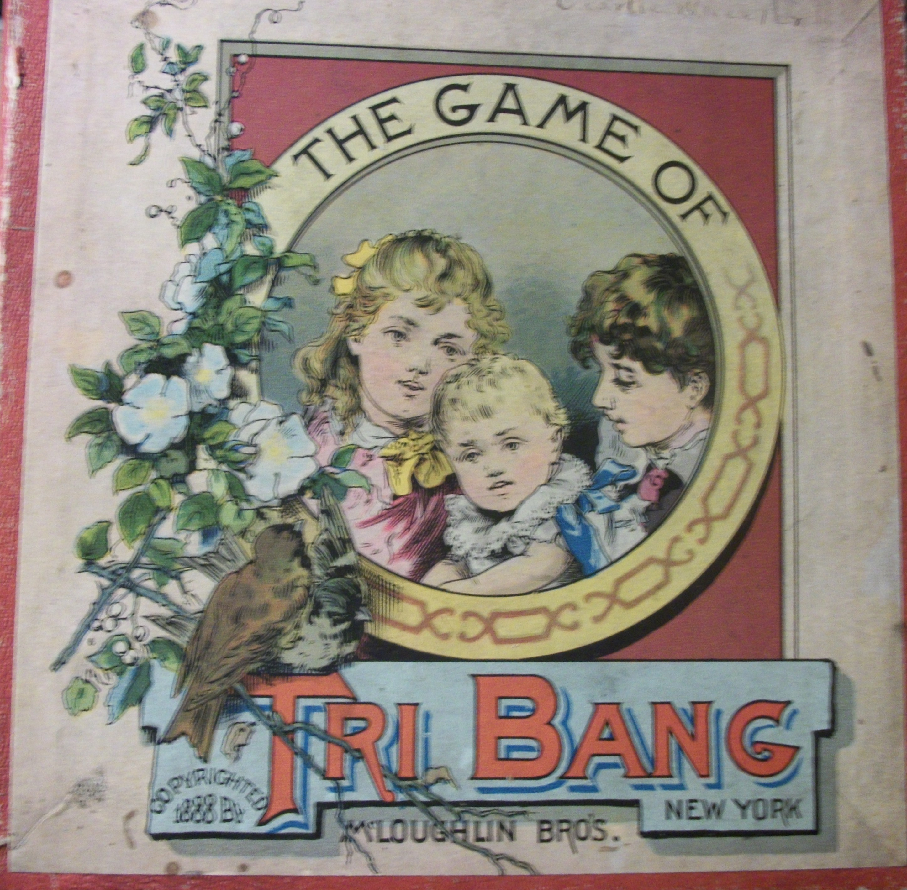 antique game 1888 mcloughlin bros. game tri bang
