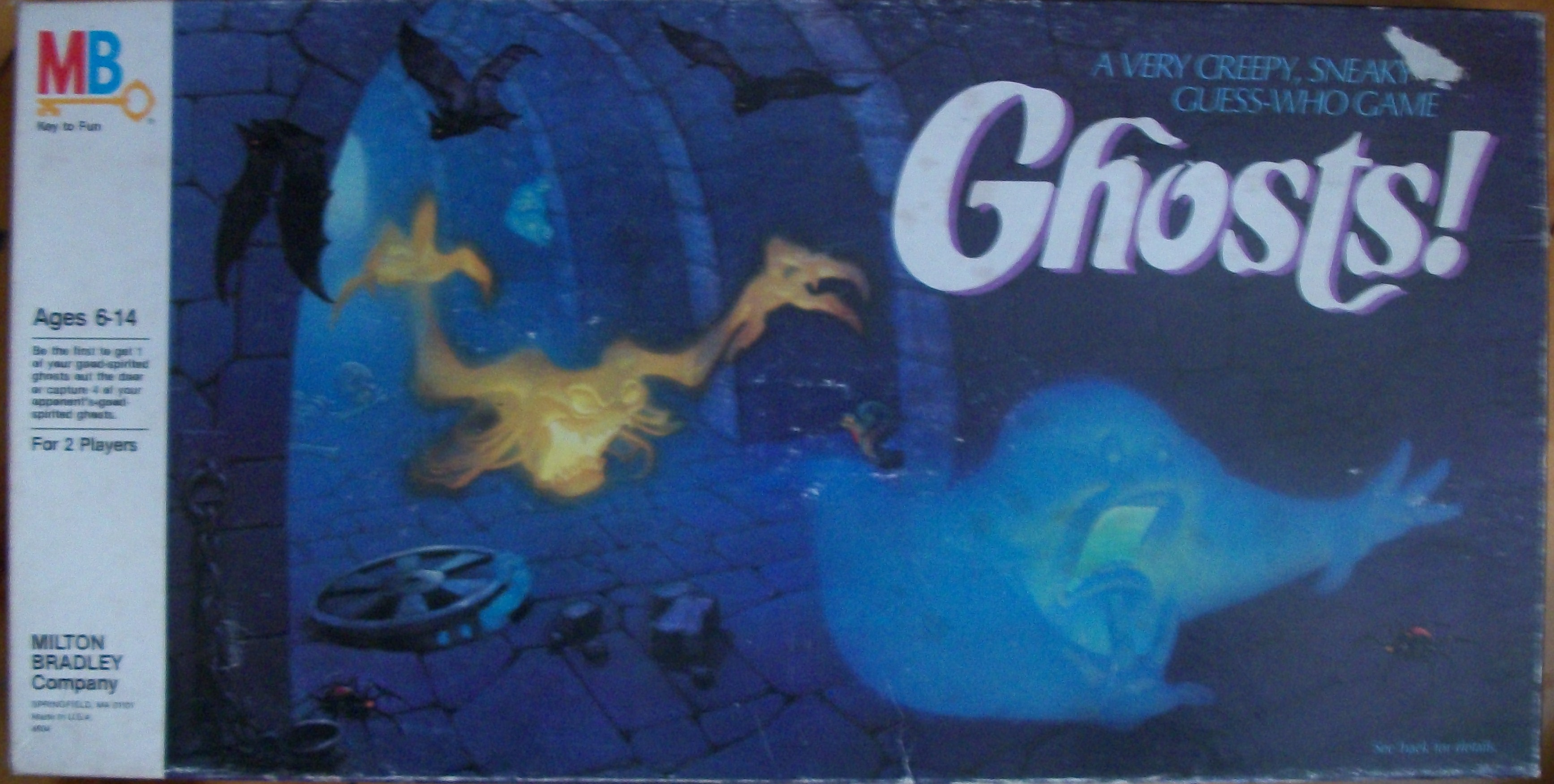 old milton bradley board game 1985 ghosts