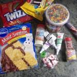 game night recipe train cake supplies