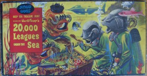vintage 1954 board game 20,000 leagues under the sea
