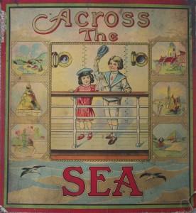antique mitlon bradley board game 1900's