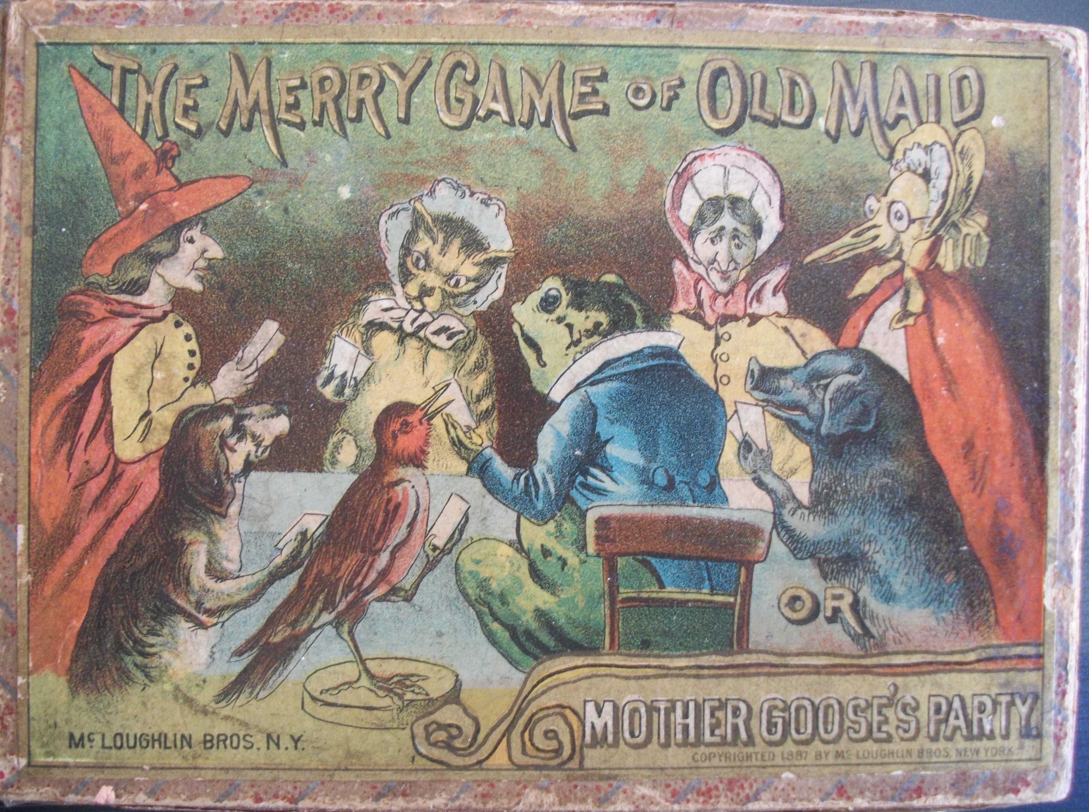 antique Mcloughlin bros 1887 old maid game