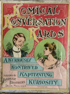 komikal Konversation Kards 1893 antique card game