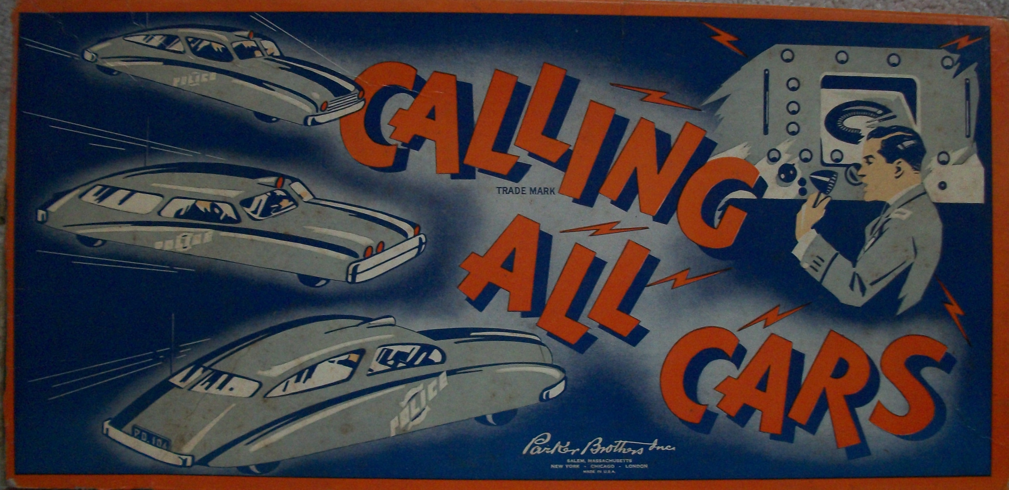 Vintage 1938 Parker Brothers Calling All Cars Board Game – All About ...
