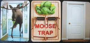 There's a Moose in the House game cards