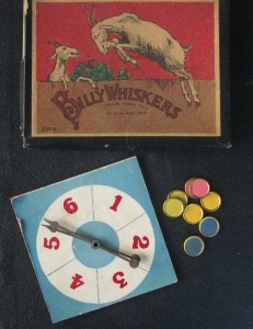 vintage 1925 game pieces of Billy Whiskers Saalfield publishing