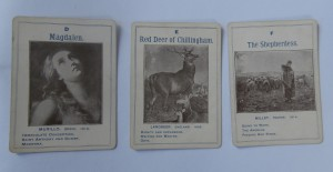 old parker brothers game cards of great artists