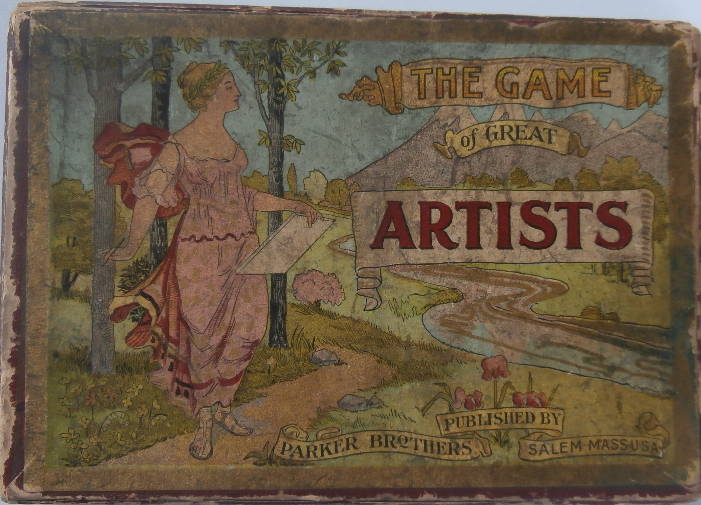old parker brothers game of Great Artists