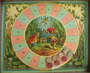 antique game of leap frog