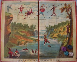 antique game board 1870 tight rope