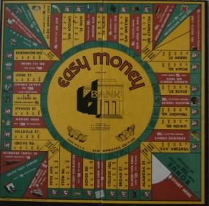 vintage game board 1936 milton bradley easy money