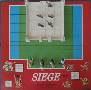 old milton bradley game board of siege