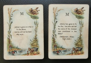 antique cards where's johnny