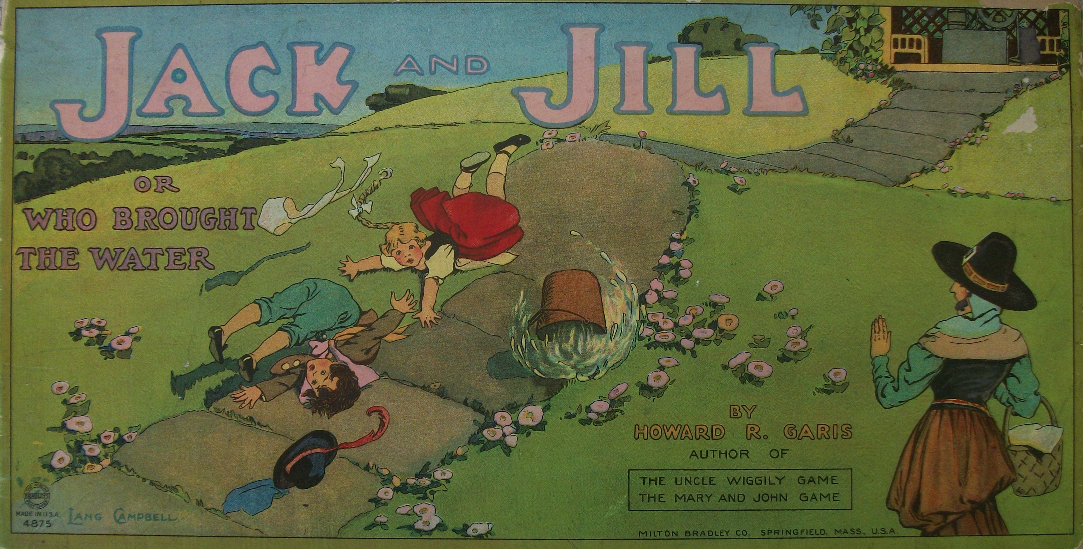 vintage board game 1938 Jack and Jill